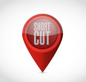Shortcut pointer sign concept illustration Stock Photography