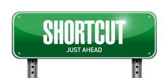 Shortcut road sign concept illustration design Royalty Free Stock Photos