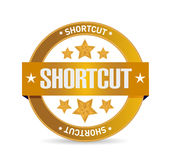 Shortcut seal sign concept illustration Royalty Free Stock Photo