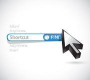 Shortcut search bar sign concept Royalty Free Stock Photos