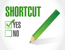 Shortcut selection sign concept illustration Stock Photography