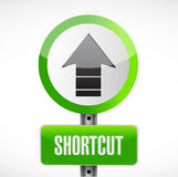 Shortcut street sign concept illustration Royalty Free Stock Photos
