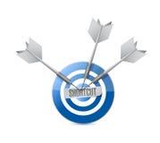 Shortcut target sign concept illustration design Royalty Free Stock Photography