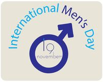Shortcut to International Men`s Day. November 19 Stock Photo