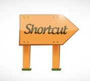 Shortcut wood sign concept illustration Stock Images
