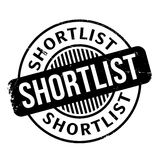 Shortlist rubber stamp Royalty Free Stock Images