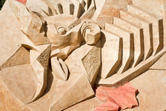 Shortlived sculpture from sand. On an arena Royalty Free Stock Images