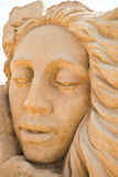 Shortlived sculpture from sand. Faith, Hope and Charity Stock Images
