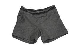 Shorts. Female shorts isolated on white (contains clipping path Stock Photography