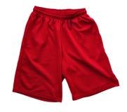 Shorts atletici rossi Fotografie Stock Libere da Diritti