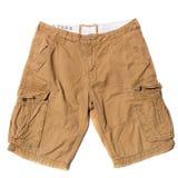 Shorts bege da carga fotografia de stock royalty free