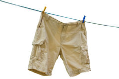 Shorts bege da carga Imagem de Stock