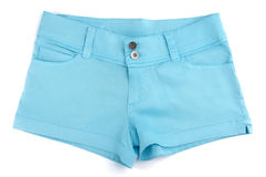 Shorts blu Fotografia Stock