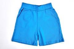 Shorts blu del cotone del neonato Immagini Stock Libere da Diritti