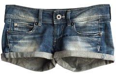 Shorts das calças de brim das mulheres fotografia de stock royalty free