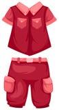 Shorts de acampamento com camisa Foto de Stock