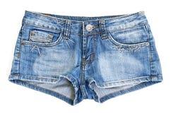 Shorts de brim azul Foto de Stock