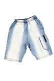 Shorts de brim azul Fotos de Stock Royalty Free
