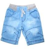 Shorts de calças de ganga Imagem de Stock