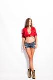 Shorts de jeans Photographie stock libre de droits