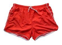 Shorts de natation - rouge Photographie stock libre de droits