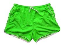Shorts de natation - vert Photographie stock libre de droits