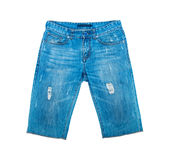 Shorts del denim Fotografia Stock