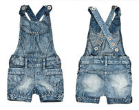 Shorts del denim dei bambini Fotografia Stock