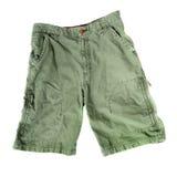 Shorts di campeggio verdi Fotografia Stock Libera da Diritti