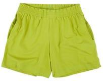 Shorts di sport del bambino Isolato su priorità bassa bianca Immagine Stock