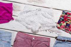 Shorts of different style and fashion. royalty free stock photo