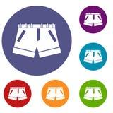 Shorts icons set Royalty Free Stock Image