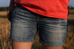 Shorts jeans Stock Image
