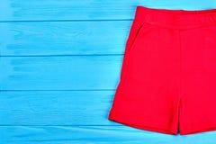 Shorts rossi di alta qualità per i bambini Immagini Stock