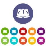 Shorts set icons Royalty Free Stock Image