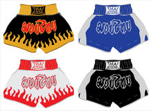 Shorts tailandeses do encaixotamento, Muay tailandês Foto de Stock Royalty Free