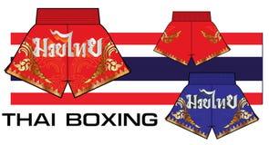 Shorts tailandesi 4 di pugilato Immagine Stock