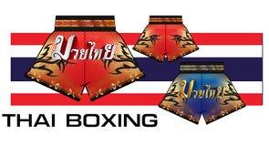 Shorts thaïlandais 1 de boxe Images libres de droits