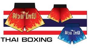 Shorts thaïlandais 3 de boxe Photographie stock libre de droits