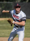 Shortstop. Foothill Cougar shortstop warms up  before a game against Pleasant Valley in Redding, California Stock Images