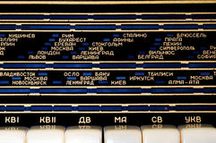 Shortwave radio panel with cyrillic letters Stock Image