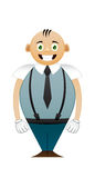 Shorty office man Royalty Free Stock Photo