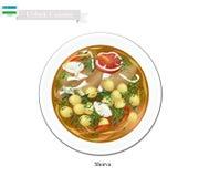 Shorva or Uzbekistan Potato, Meat and Beans Stew Stock Photos