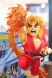 Shoryuken maskotki zabawki model, charakter od Street Fighter gry obraz royalty free