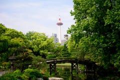 Shosei trädgård, Kyoto, Japan arkivbild
