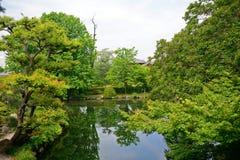 Shosei trädgård, Kyoto, Japan royaltyfria foton
