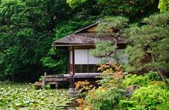 Shosei trädgård, Kyoto, Japan arkivfoto