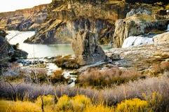 Shoshone falls canyon stock images