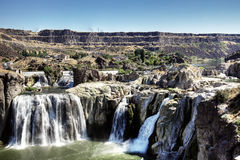 Shoshone Falls, idaho. Overlooking dramatic Shoshone Falls near Twin Falls, Idaho (USA Royalty Free Stock Photography