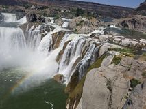 Beautiful Shoshone Falls royalty free stock photo